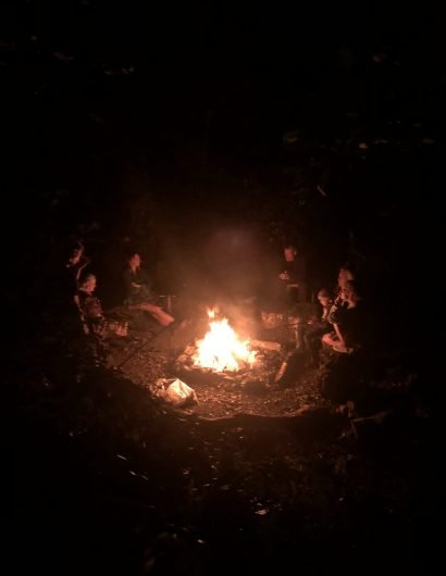 Campfire at Owl Valley Glamping