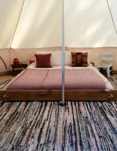 The Bell Tents king size Bed