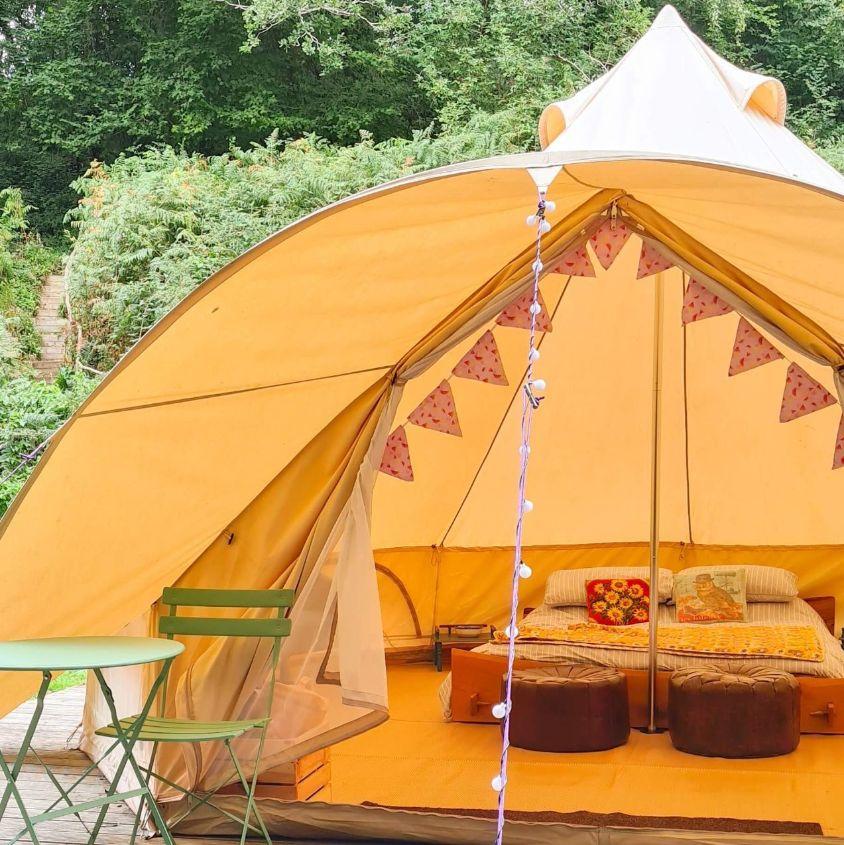 Camping Tent Near Bideford, UK